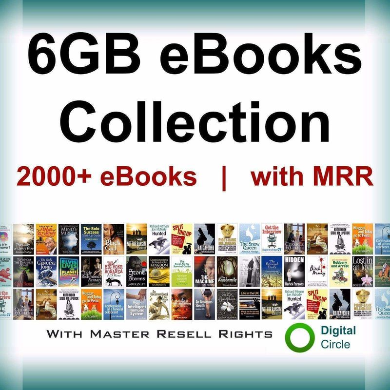 Ebooks 6gb Package Collection With Full Master Resell Right Pdf